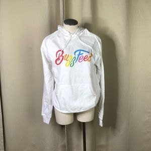 NWT white American apparel buzz feed hoodie med